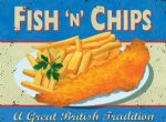 Wiscombe Fish Chips 15x20 Cafe Food Steel Metal Sign Plaque Gift